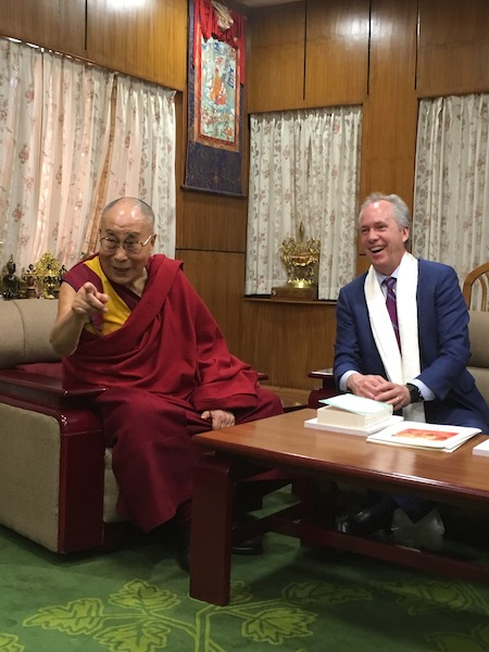 His Holiness The Dalai Lama with Mayor Greg Fischer