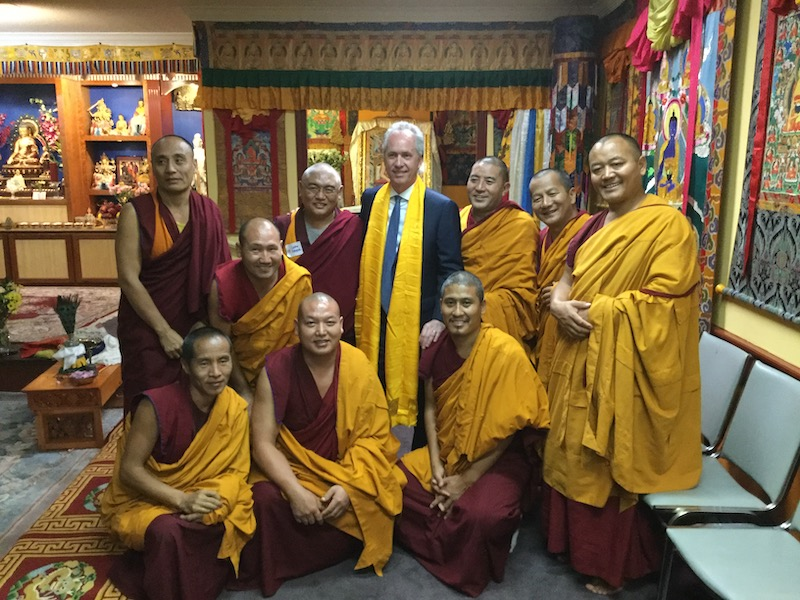 Mayor Fischer with Drepung Gomang Sacred Arts Tour Monks